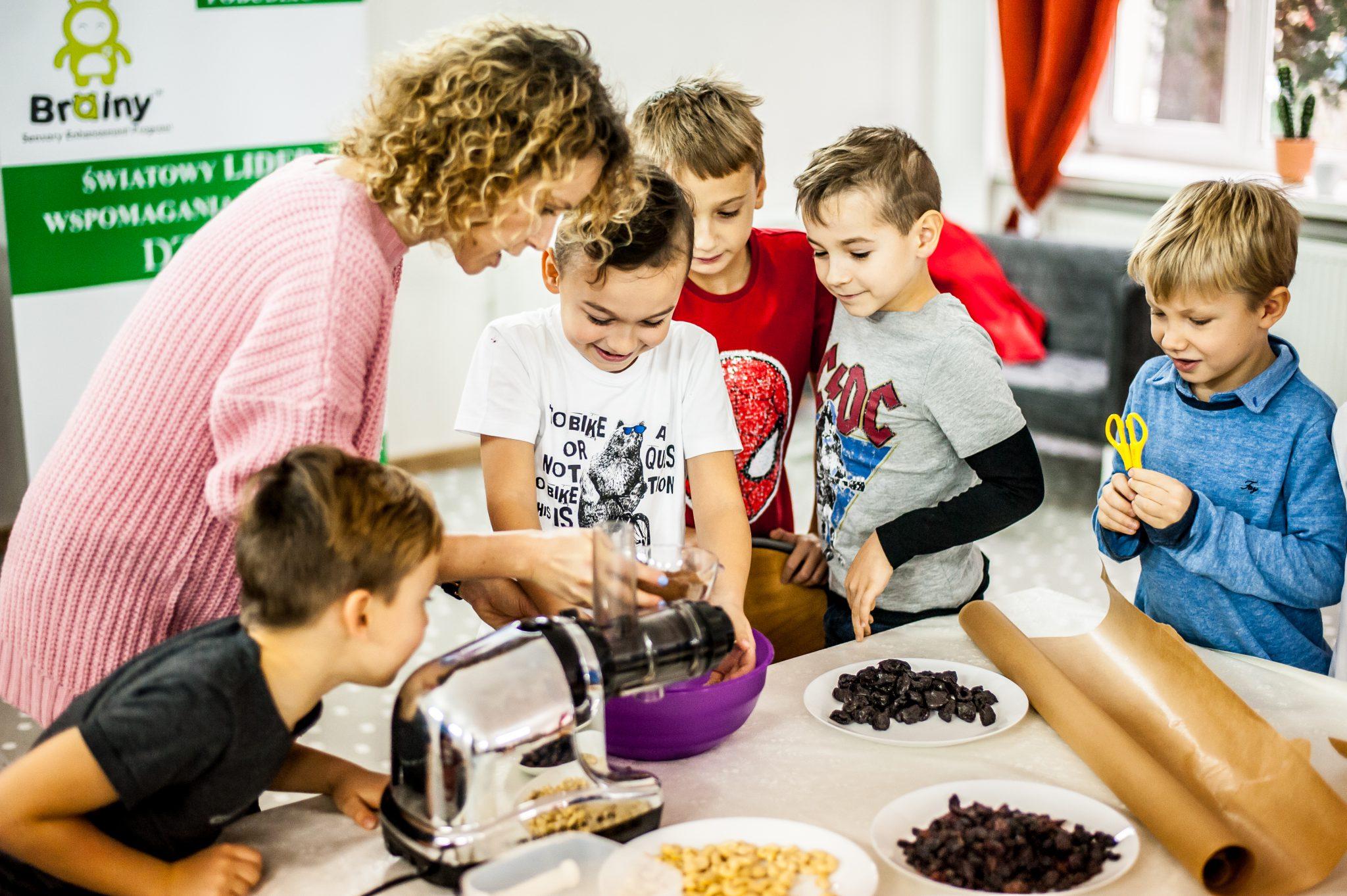 Małgorzata Mrozowska z dziećmi