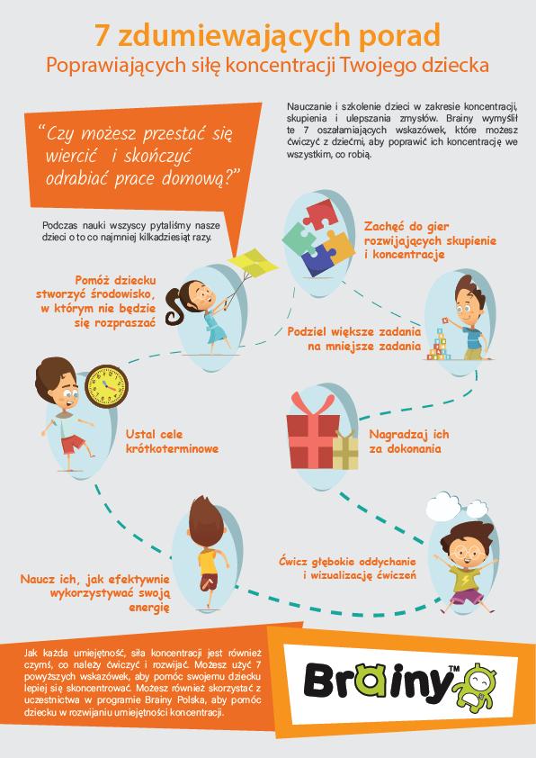 Koncentracja - 7 zdumiewających porad poprawiających koncentrację u dzieci.